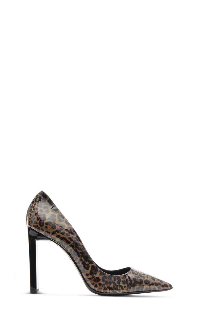 JUST CAVALLI Court shoe with leopard spots Pump Woman f