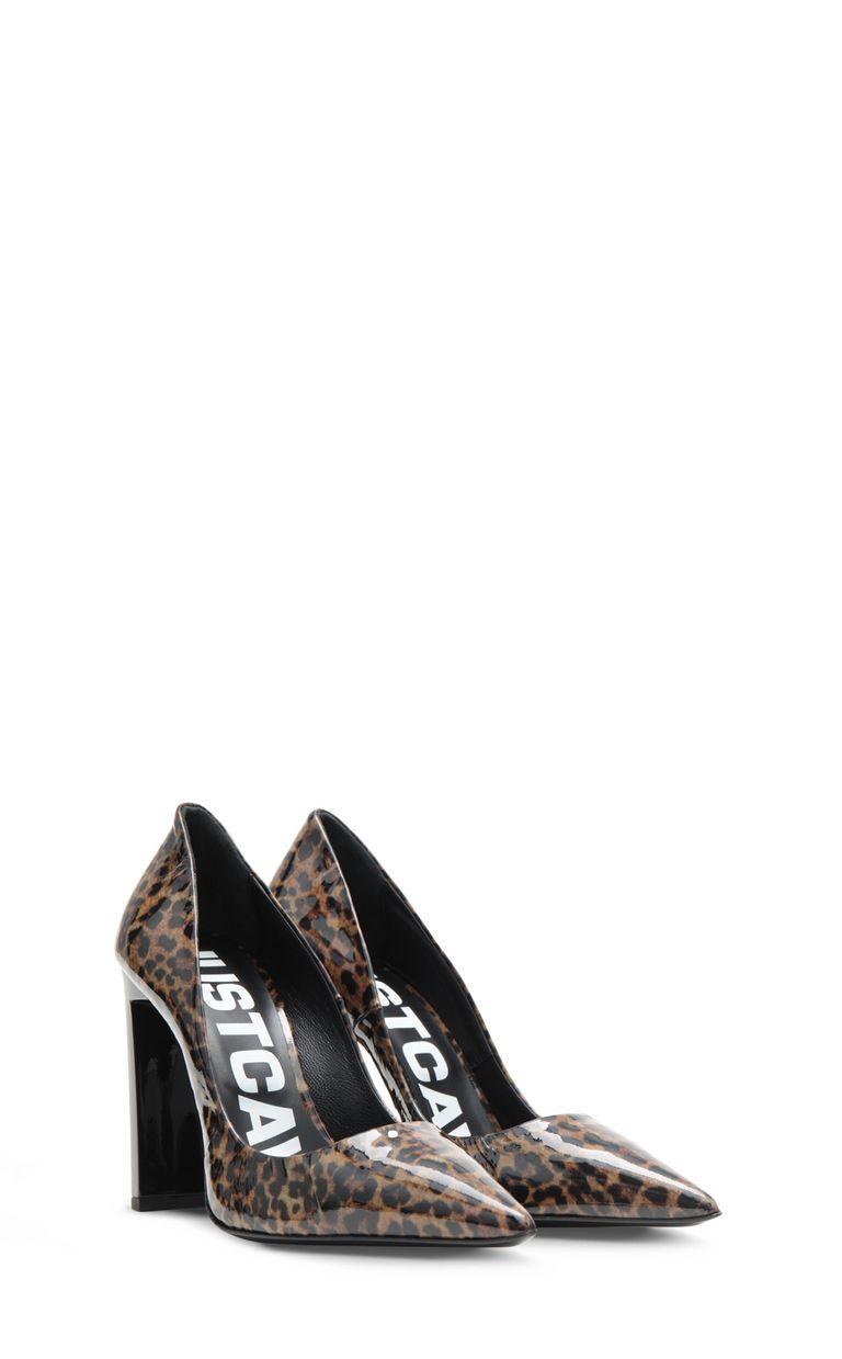 JUST CAVALLI Court shoe with leopard spots Pump Woman r