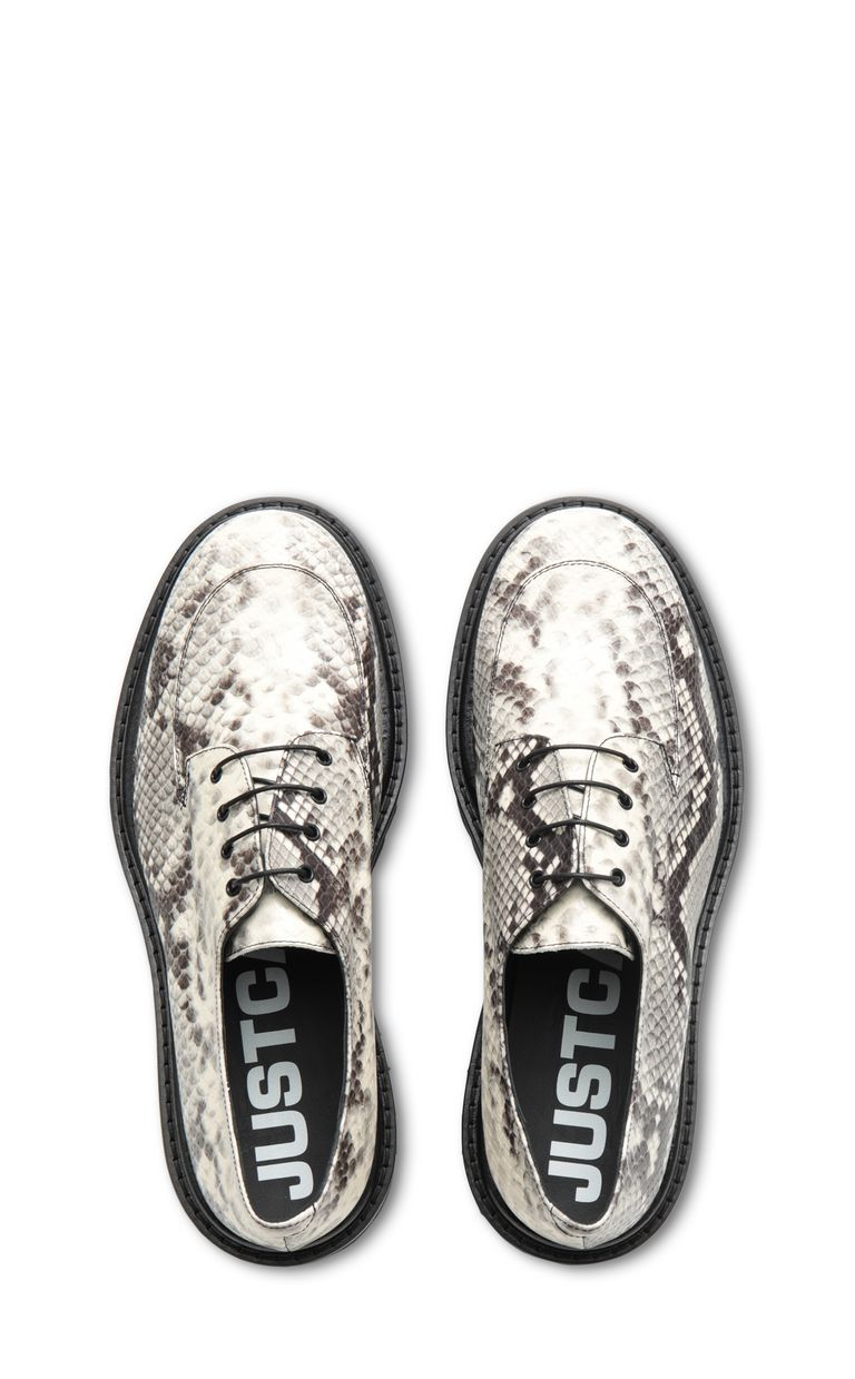 JUST CAVALLI Lace-ups in python-effect leather Laced shoes Man d