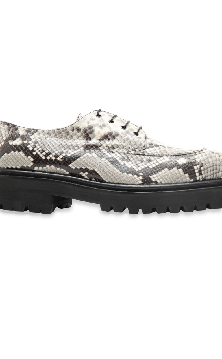JUST CAVALLI Lace-ups in python-effect leather Laced shoes Man e
