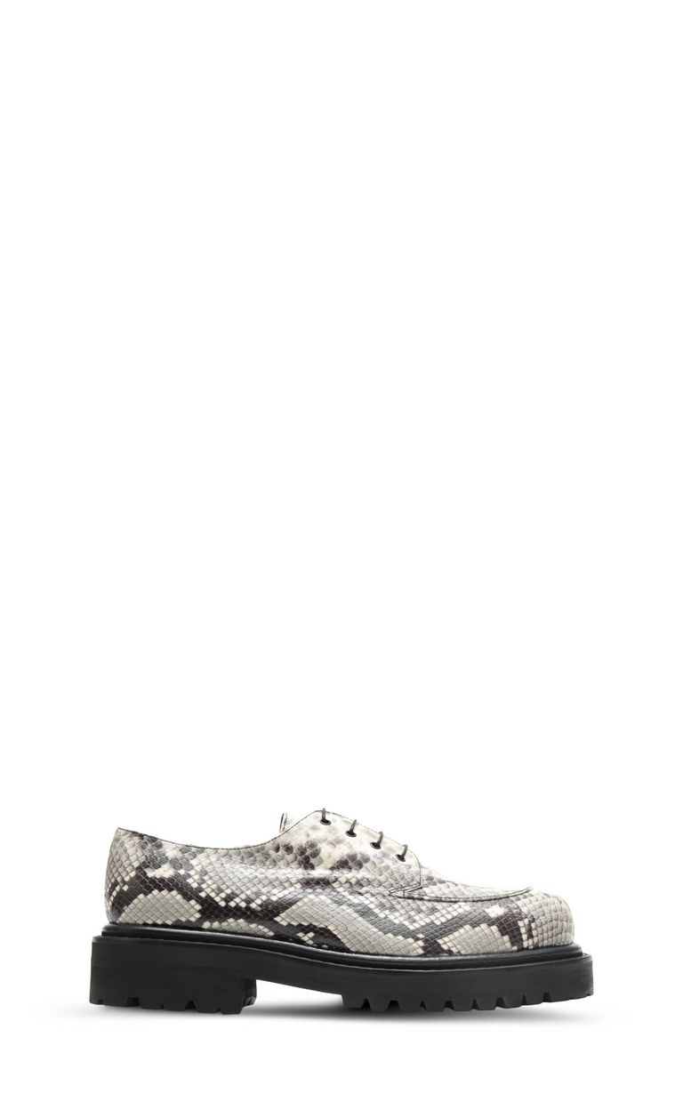 JUST CAVALLI Lace-ups in python-effect leather Laced shoes Man f
