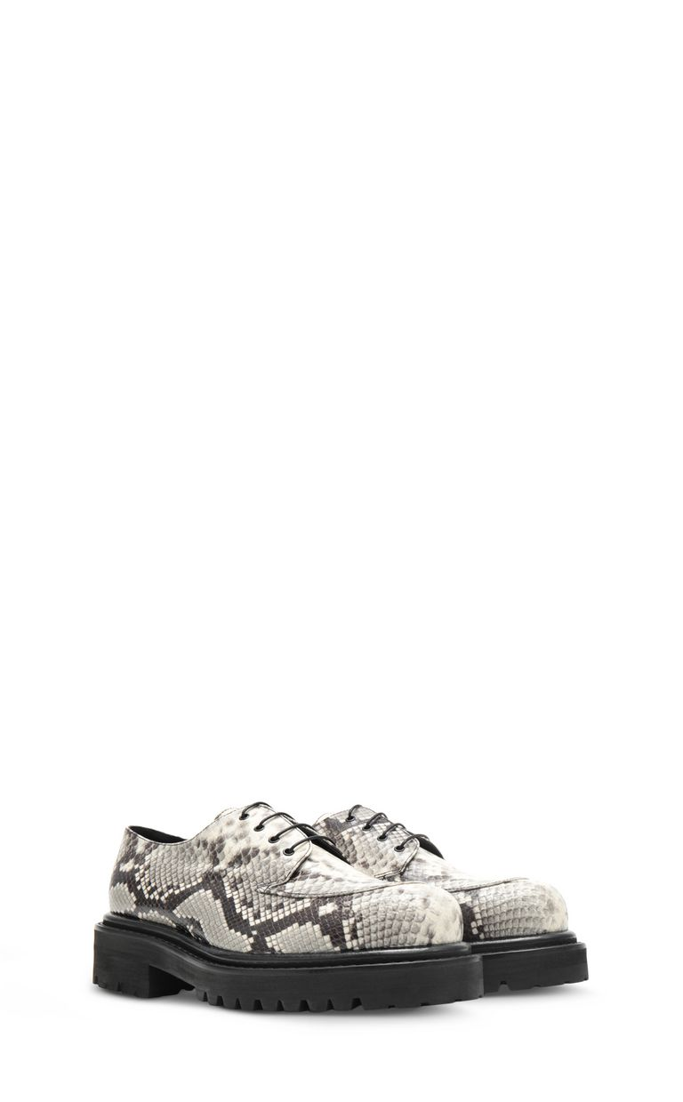 JUST CAVALLI Lace-ups in python-effect leather Laced shoes Man r