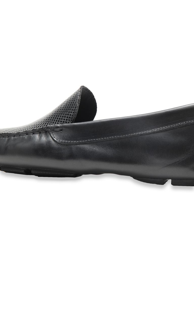 JUST CAVALLI Loafer in black leather Moccassins Man e
