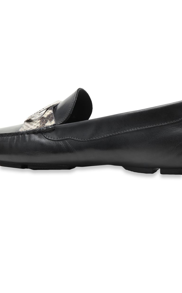 JUST CAVALLI Loafer in tumbled leather Moccassins Man e