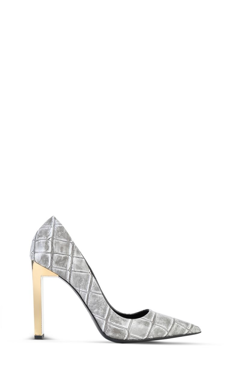 JUST CAVALLI Court shoe with crocodile print Pump Woman f