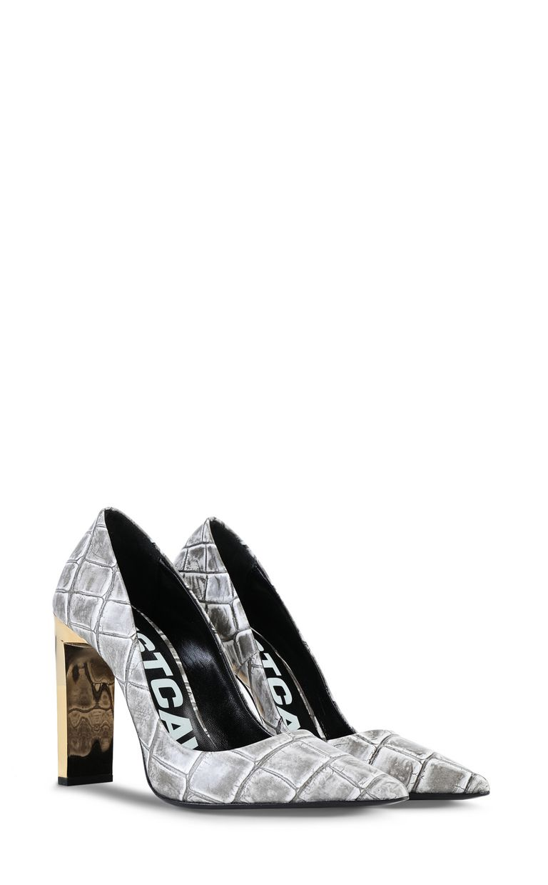 JUST CAVALLI Court shoe with crocodile print Pump Woman r