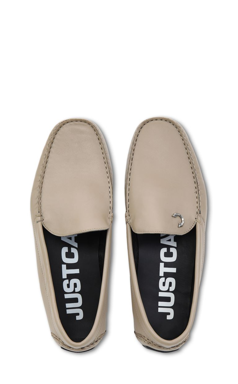 JUST CAVALLI Leather loafers Moccassins Man d