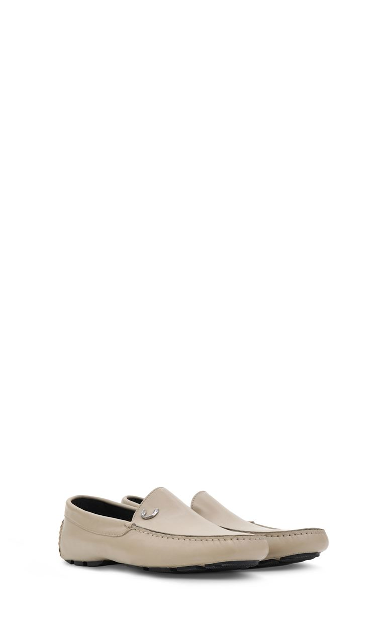 JUST CAVALLI Leather loafers Moccassins Man r