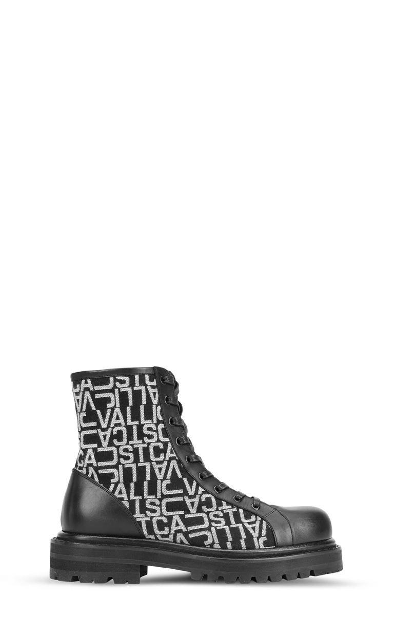 JUST CAVALLI ブーツ ジャカードロゴ ブーツ メンズ f