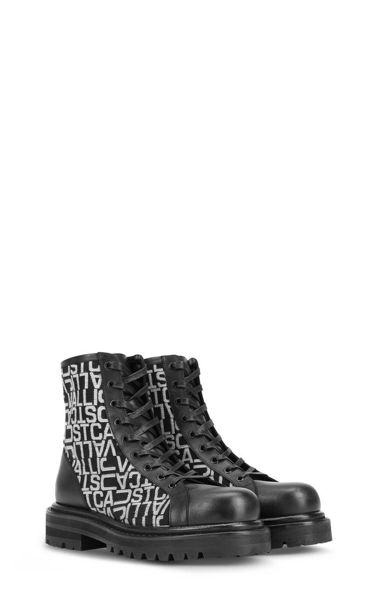 JUST CAVALLI ブーツ ジャカードロゴ ブーツ メンズ r