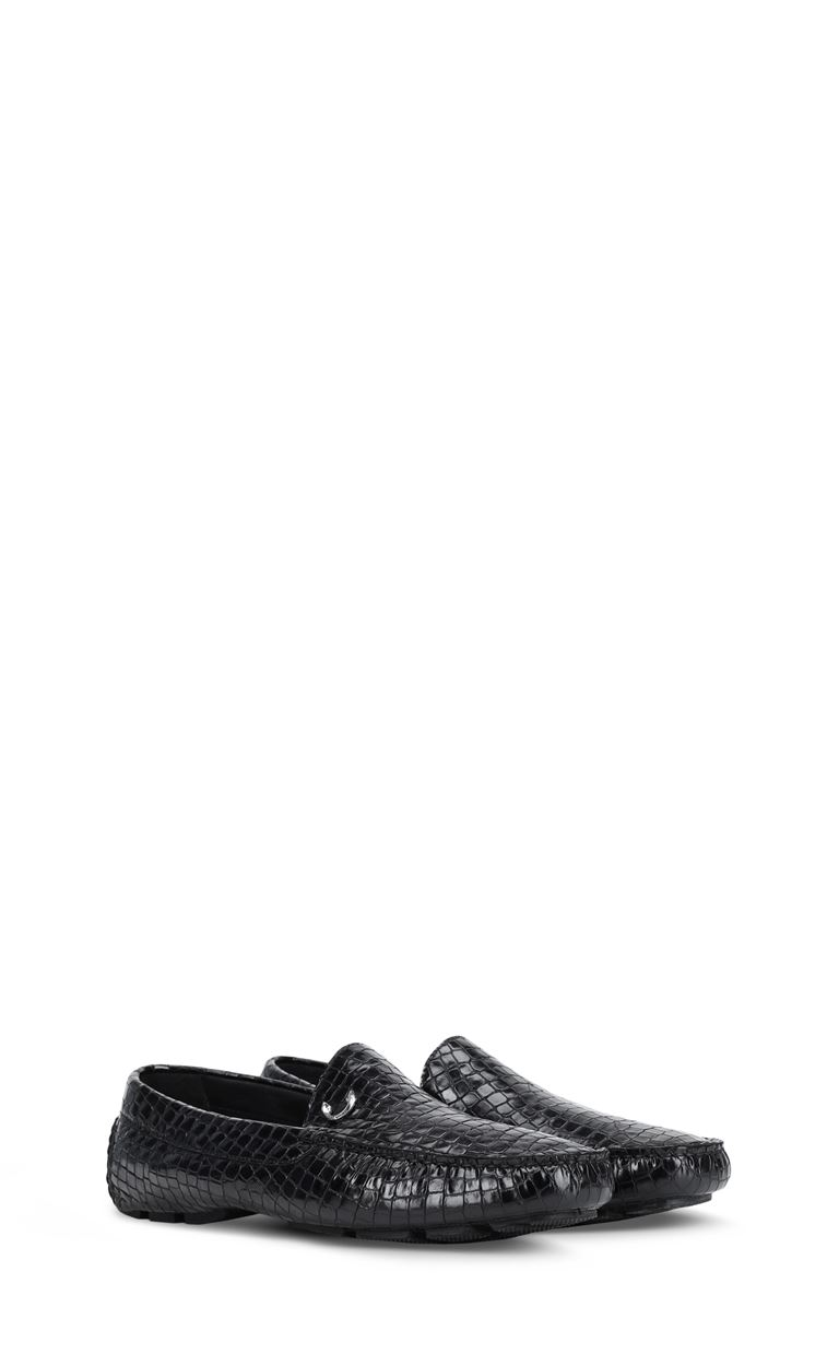 JUST CAVALLI Crocodile-effect loafers Moccassins Man r