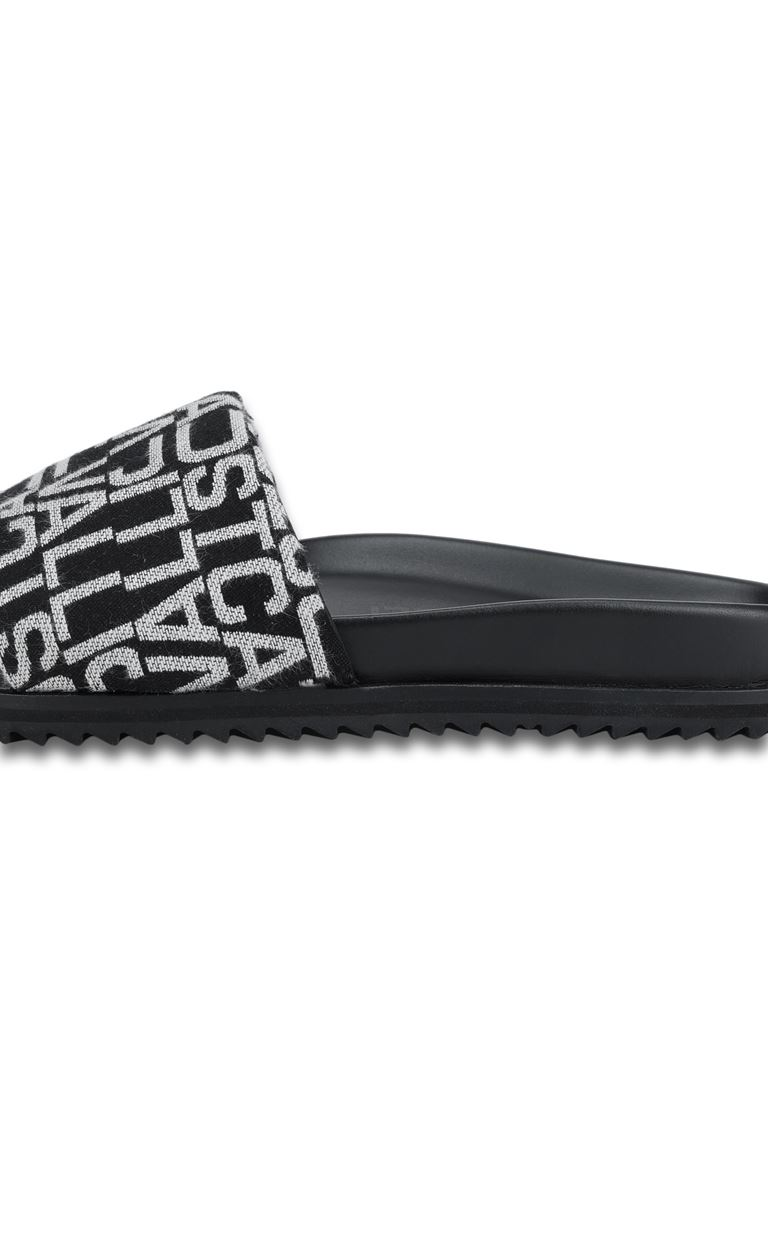 JUST CAVALLI Slides with jacquard logo Sandals Man e