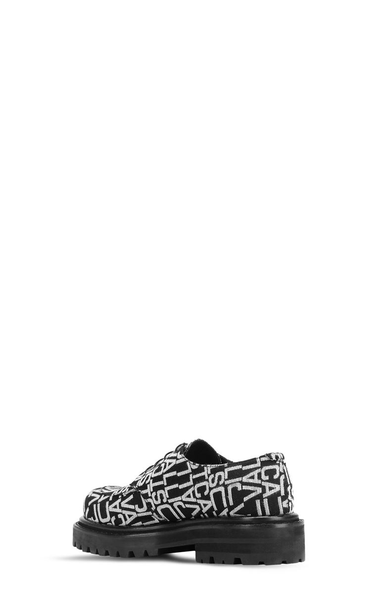 JUST CAVALLI Jacquard-logo lace-ups Laced shoes Man e