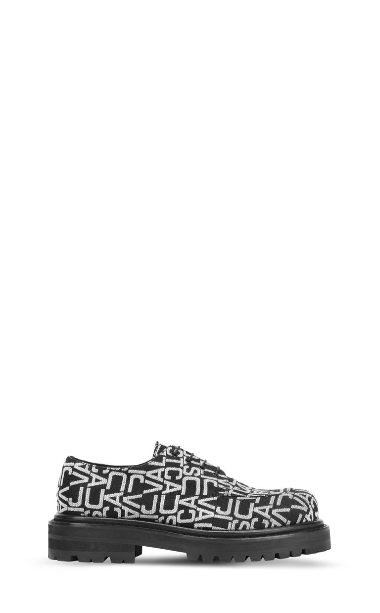 JUST CAVALLI Jacquard-logo lace-ups Laced shoes Man f