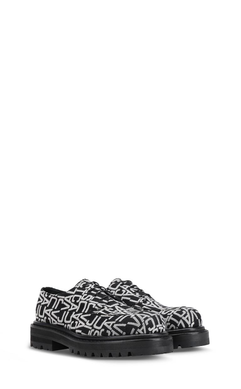 JUST CAVALLI Jacquard-logo lace-ups Laced shoes Man r