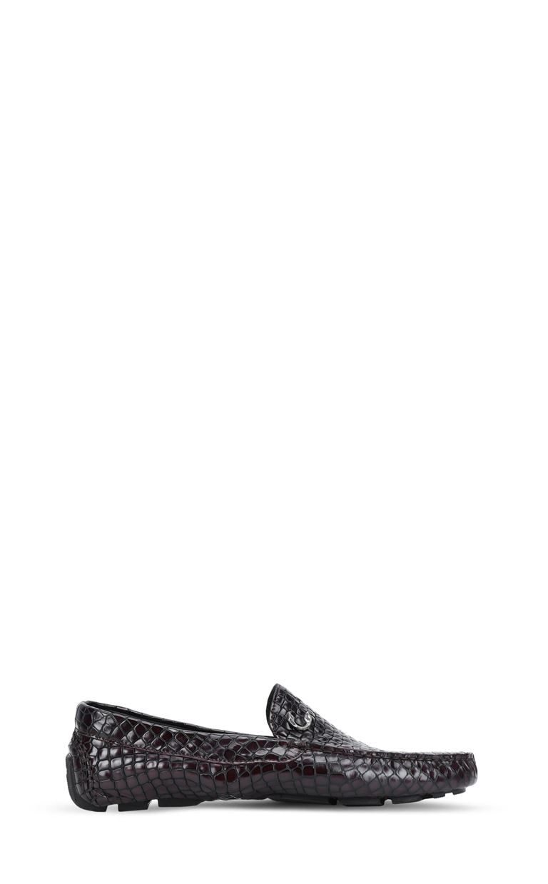 JUST CAVALLI Crocodile-effect loafers Moccassins Man f