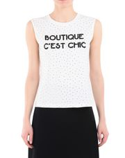 BOUTIQUE MOSCHINO Sleeveless t-shirt Woman r