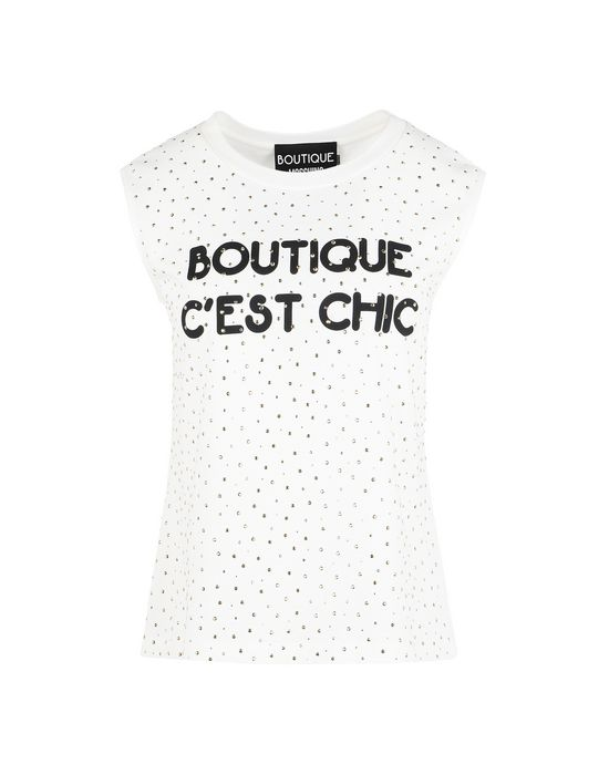 Sleeveless t-shirt Woman BOUTIQUE MOSCHINO