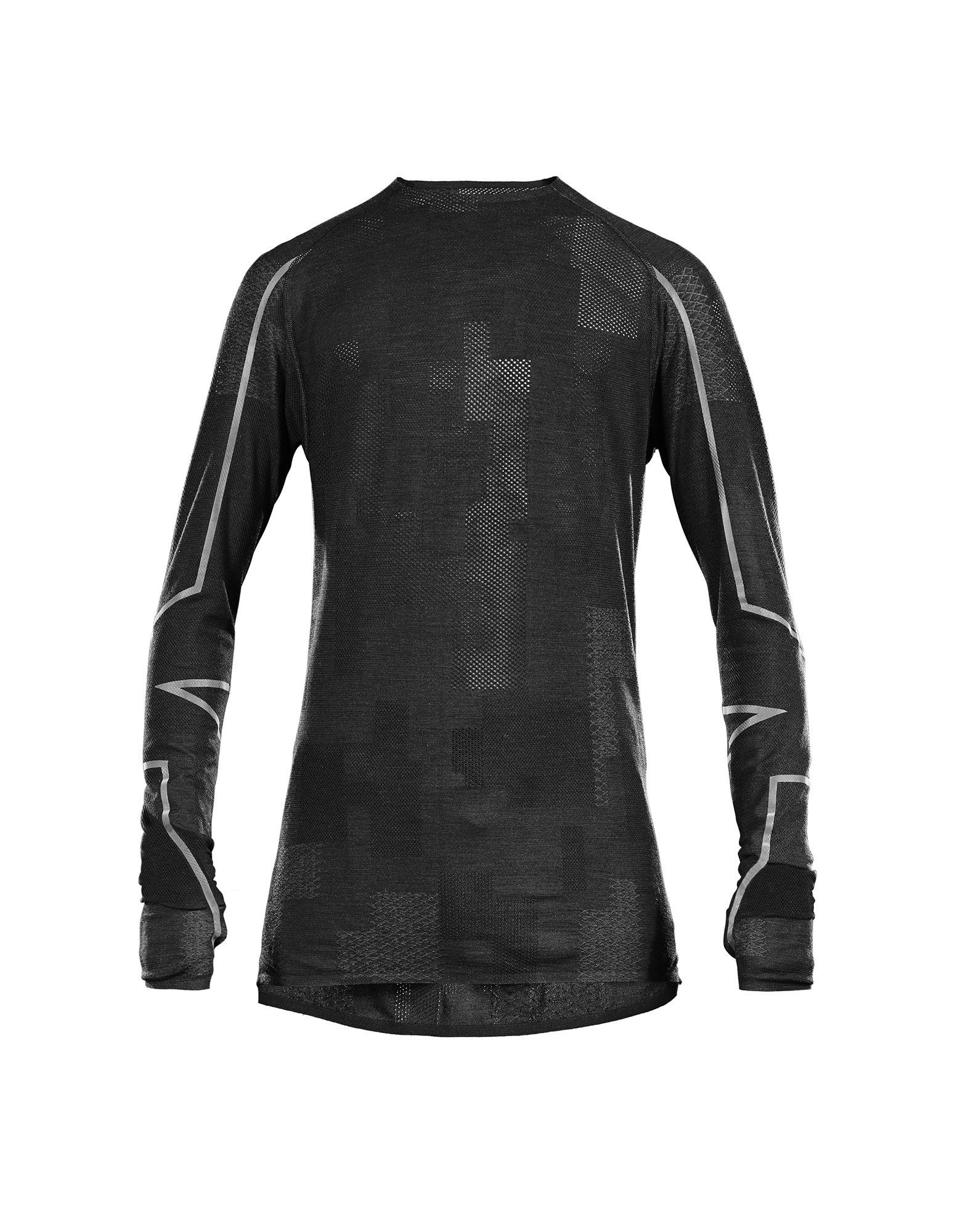 Black t shirt sports - Y 3 Sport Merino Ls T Shirt Tees Polos Man Y 3