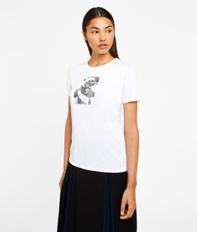KARL LAGERFELD KARL HEAD PHOTO TEE