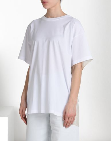 MM6 by MAISON MARGIELA Short sleeve t-shirt D T-shirt with contrasting back f