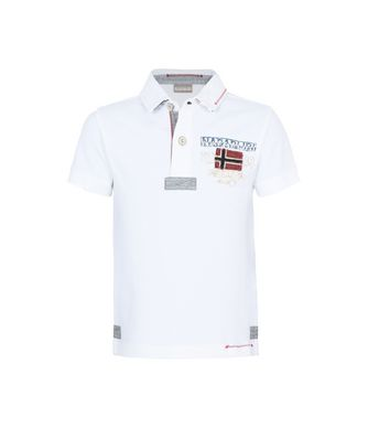 NAPAPIJRI K ESTA JUNIOR KID SHORT SLEEVE POLO,WHITE
