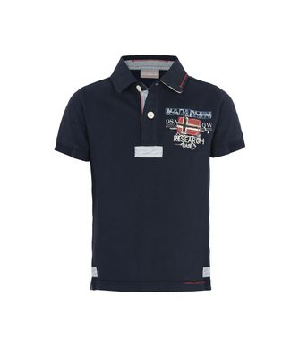 NAPAPIJRI K ESTA JUNIOR KID SHORT SLEEVE POLO,DARK BLUE