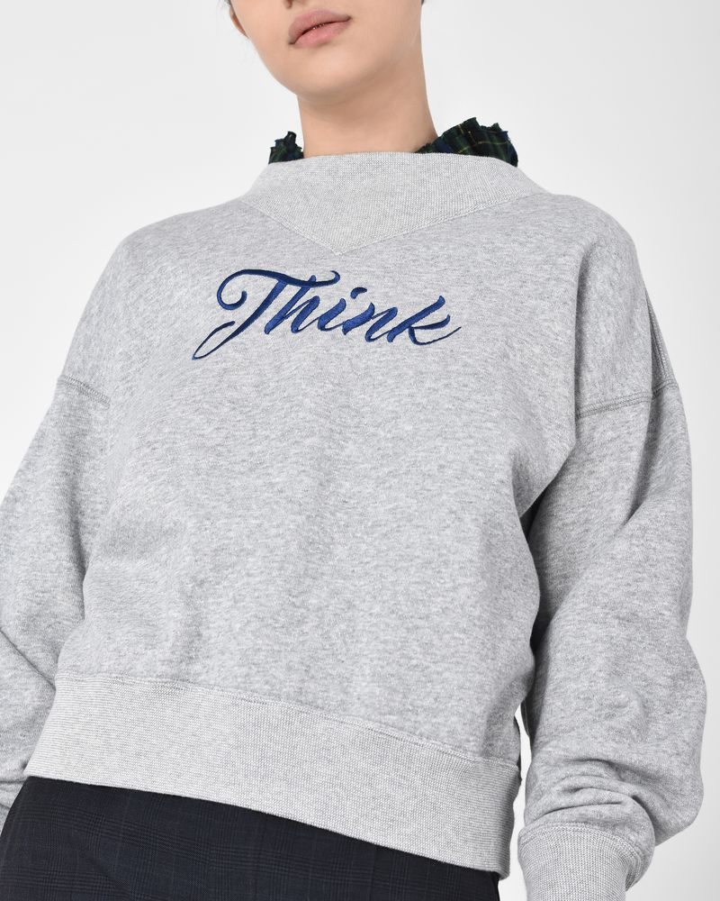 Loby Embroidered cotton sweatshirt ISABEL MARANT ÉTOILE ...