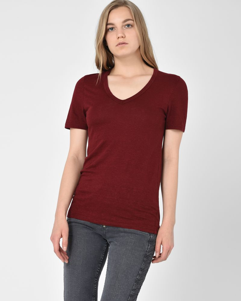 Kranger Short-sleeved linen v-neck t-shirt  ISABEL MARANT ÉTOILE