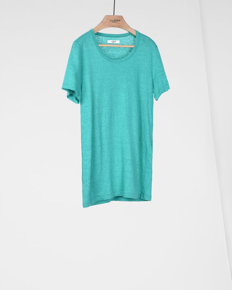 Kilian Short-sleeved linen round neck T-shirt  ISABEL MARANT ÉTOILE