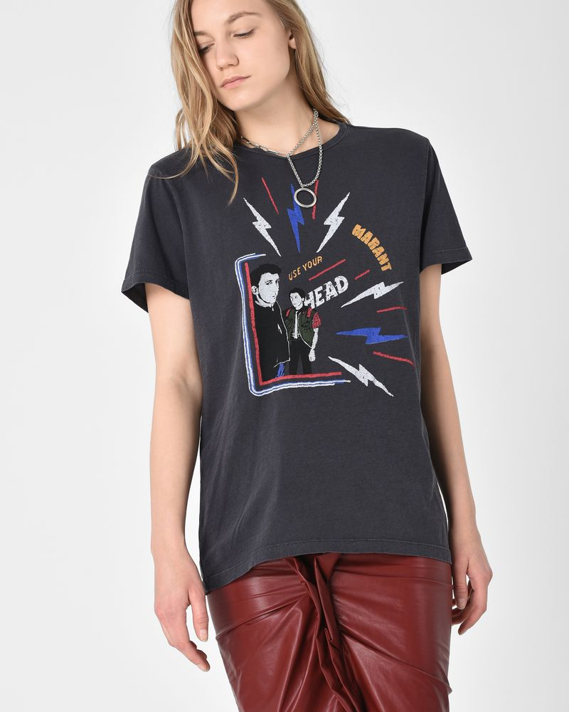 Dewel Printed cotton T shirt  ISABEL MARANT ÉTOILE