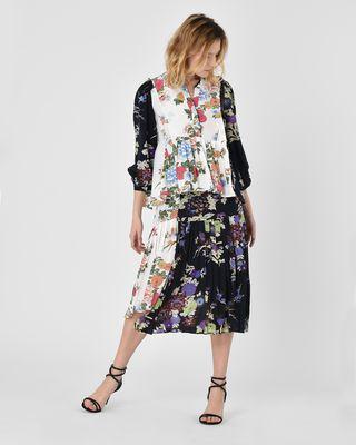 ISABEL MARANT TOP D Ivia Floral print silk crepe de chine blouse r