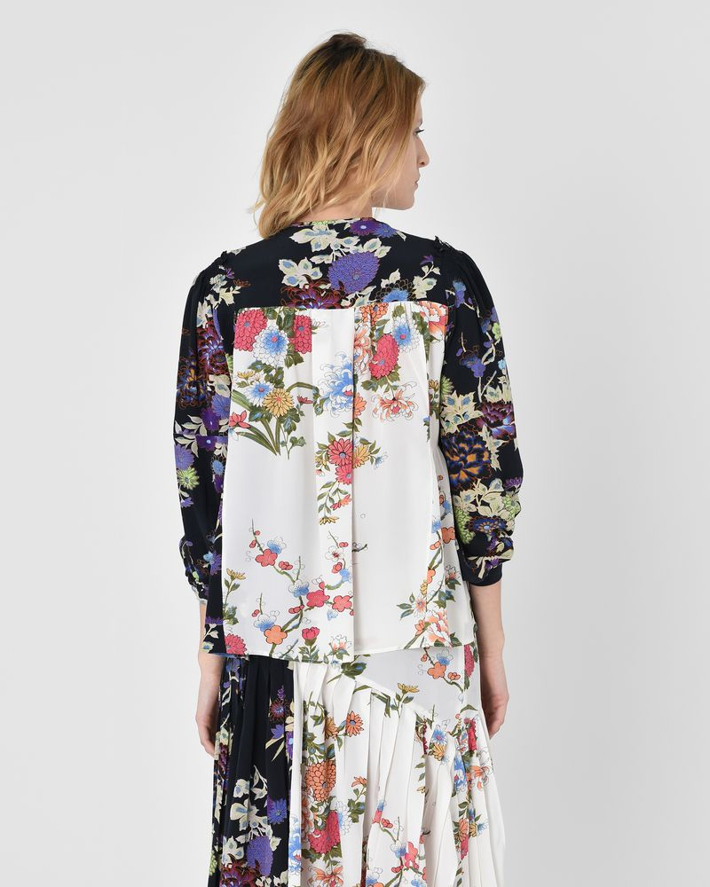 Ivia Floral print silk crepe de chine blouse  ISABEL MARANT