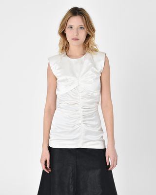 Ezer Sleeveless satin top