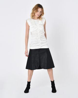 ISABEL MARANT TOP D Ezer Sleeveless satin top r
