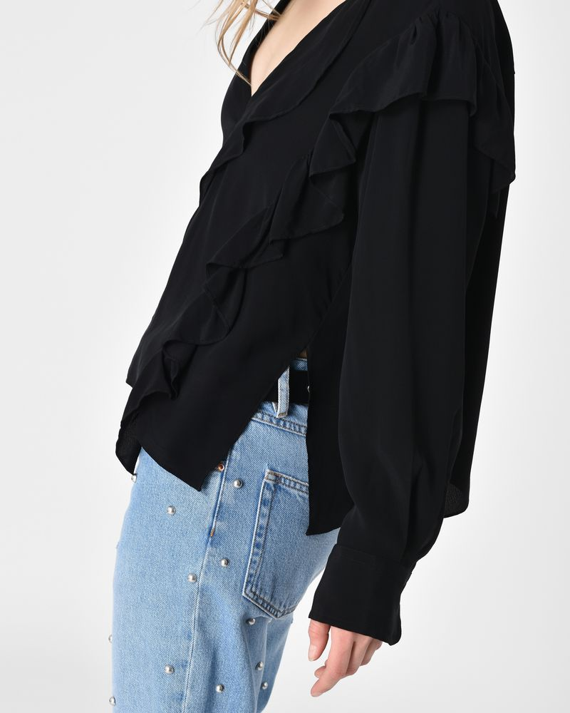 Welby Fluid ruffle cupro blouse ISABEL MARANT ÉTOILE