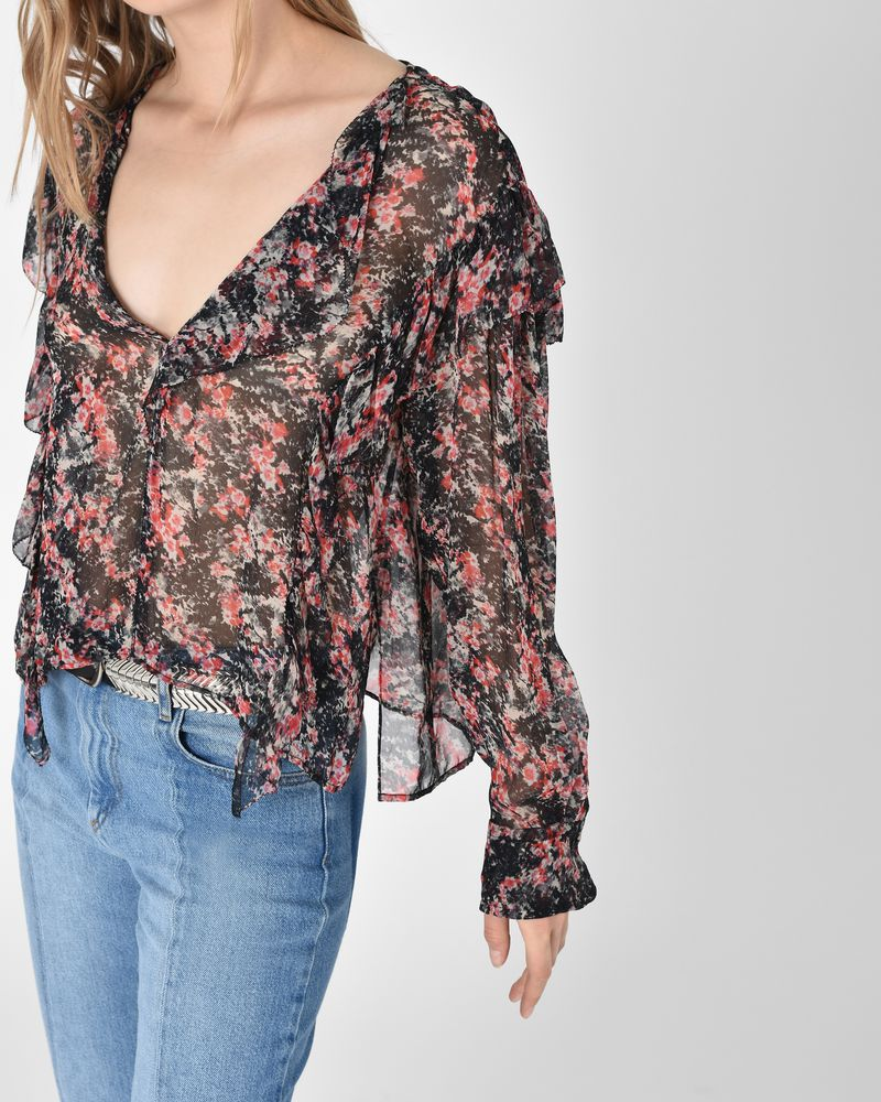 Discount Clearance Outlet 2018 Unisex Isabel Marant V-neck printed blouse Cheap Sale Excellent With Credit Card For Sale GtlxBoi