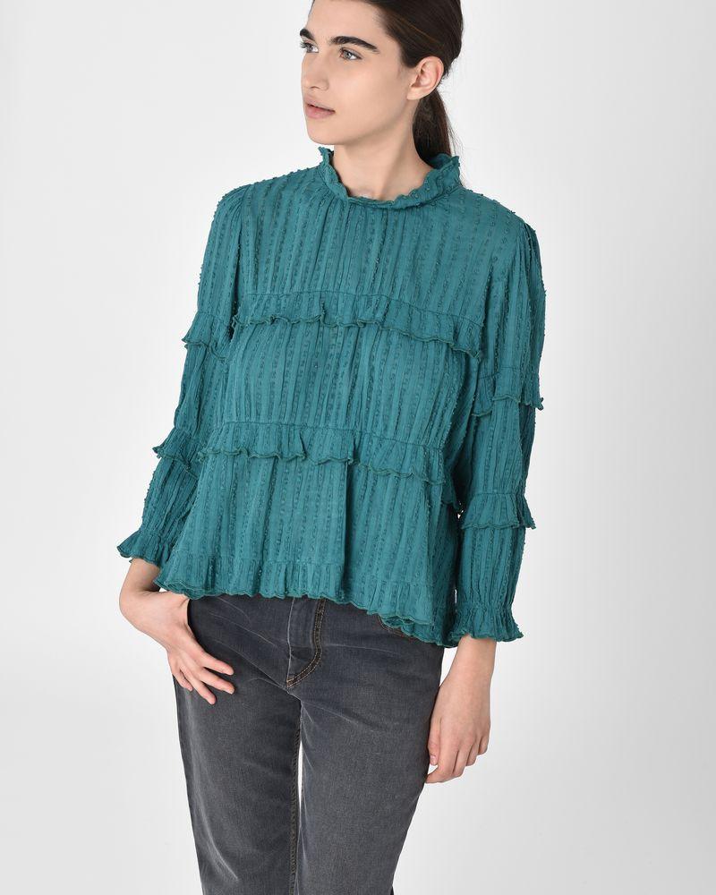 Ykaria Textured cotton voile ruffle blouse ISABEL MARANT ÉTOILE ...