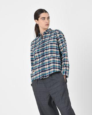 Cazora 보이프렌드 체크 셔츠
