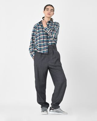 ISABEL MARANT ÉTOILE 셔츠 & 블라우스 D Cazora 보이프렌드 체크 셔츠 r