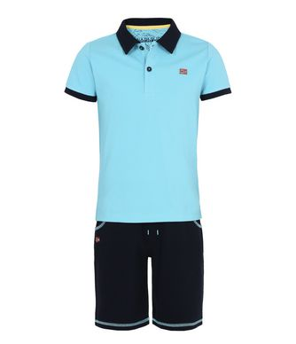 NAPAPIJRI K WEBSTER JUNIOR KID SHORT SET,SKY BLUE
