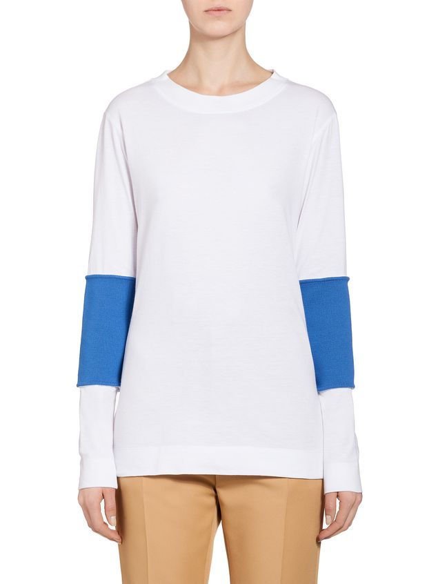 Marni Top in jersey with inserts Woman - 1