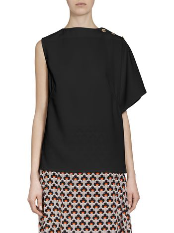 Marni Kimono-sleeved top in acetate Woman