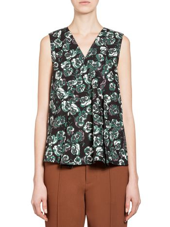Marni Top in poplin Poetry Flower Woman