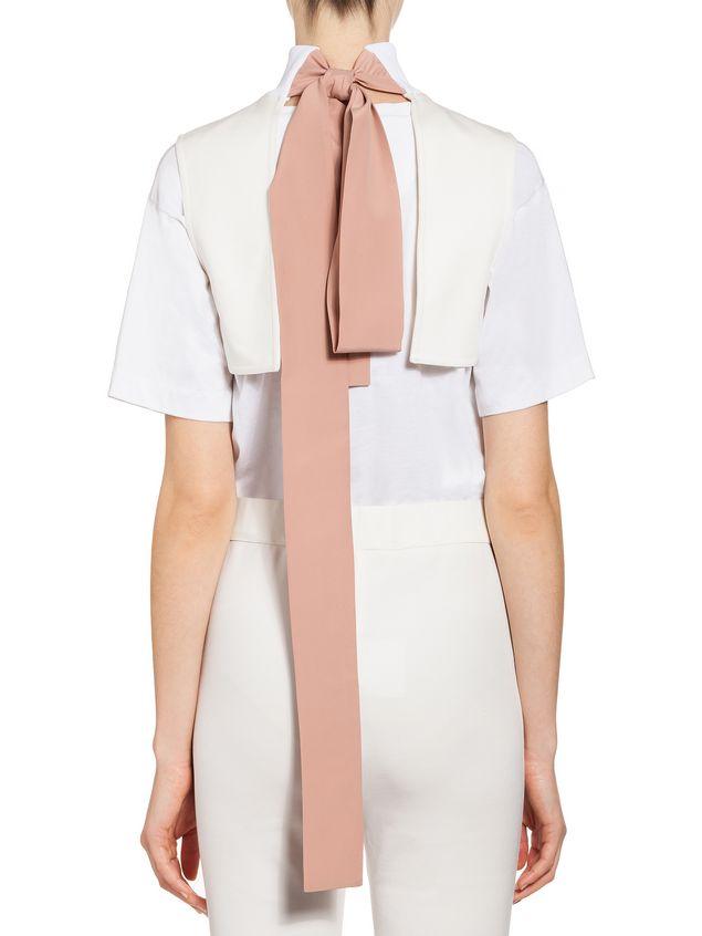 Marni Bow collar in techno jersey Woman
