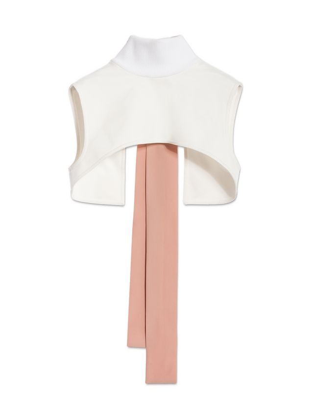 Marni Bow collar in techno jersey Woman - 2