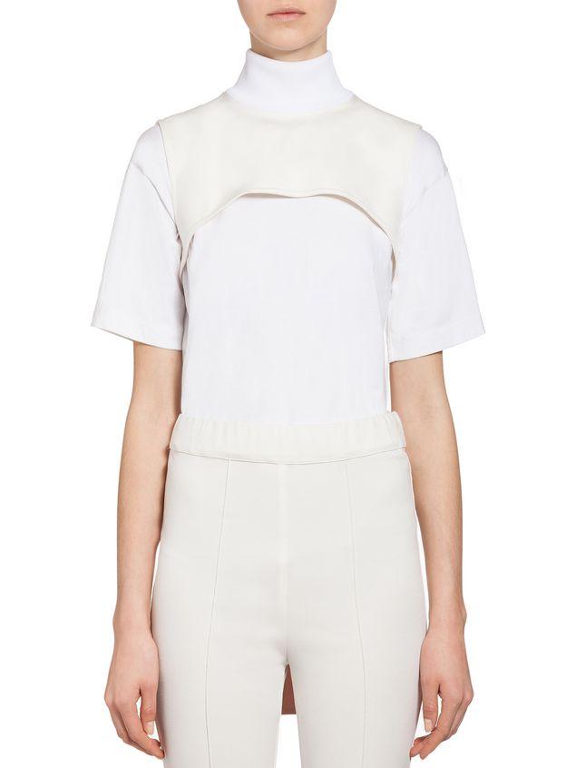 Marni Bow collar in techno jersey Woman - 1