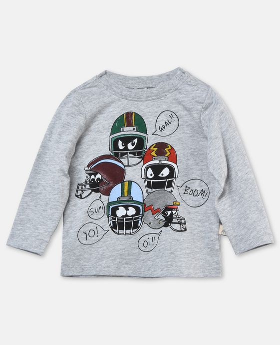 Georgie Grey Helmet Print Top