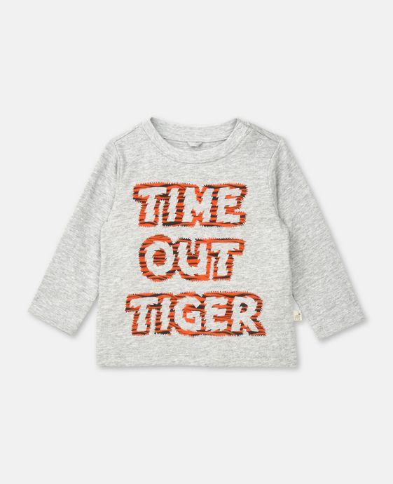 Top Georgie gris avec imprimé Time Out Tiger