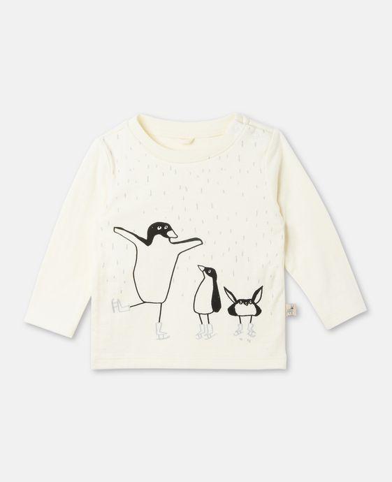 T-shirt Georgie avec imprimé pingouins